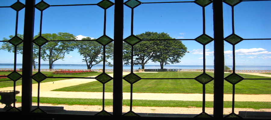 View Through Windows to Long Island Sound