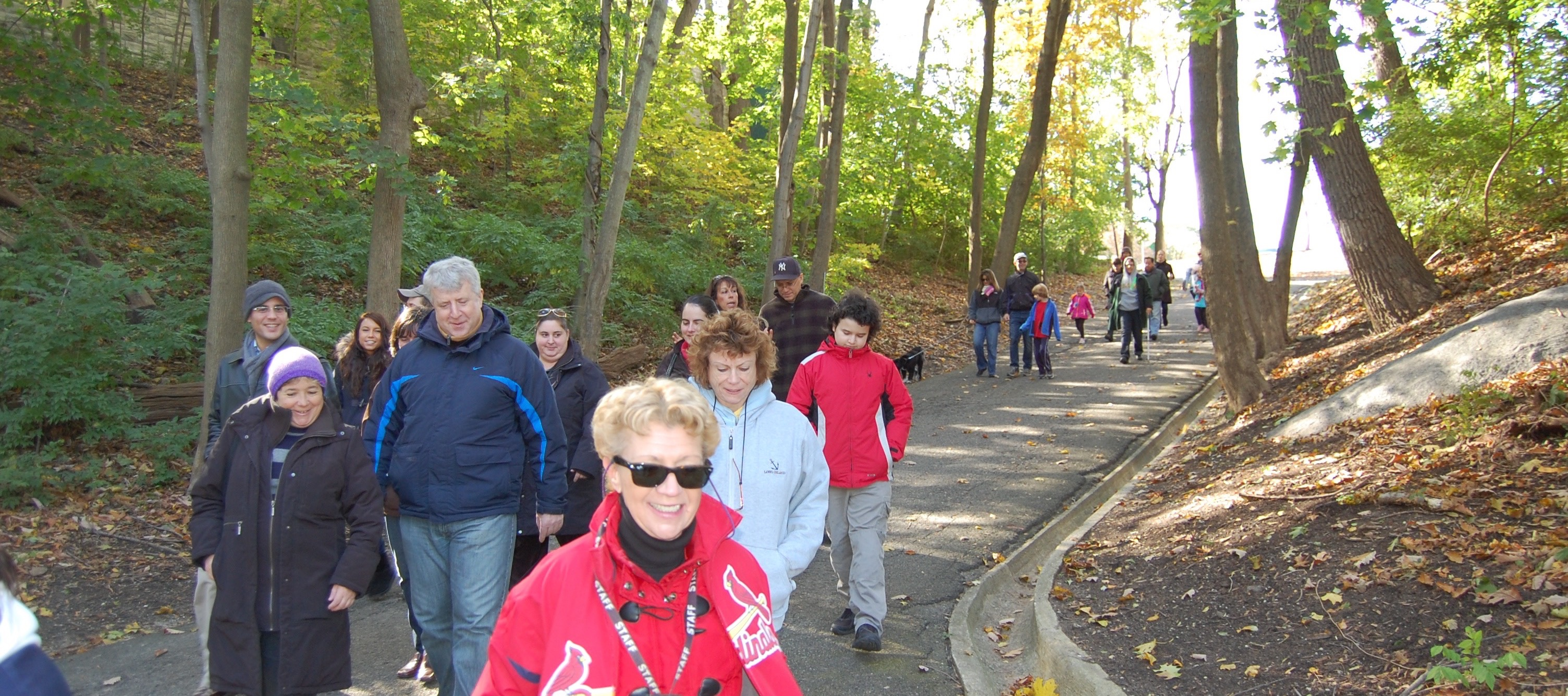 Jayne Leading a group of visitors on a Walk