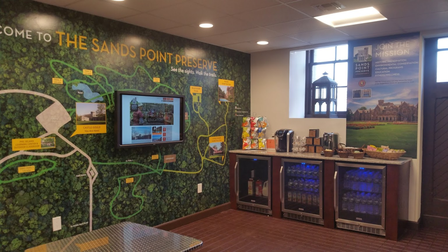 Welcome Center & Gift Shop at Sands Point Preserve