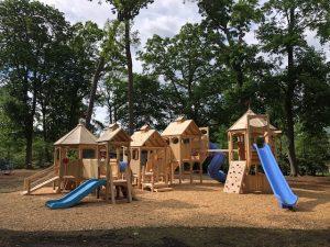 Slides at the Woodland Playground