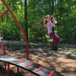 Playground Girl on Zipline