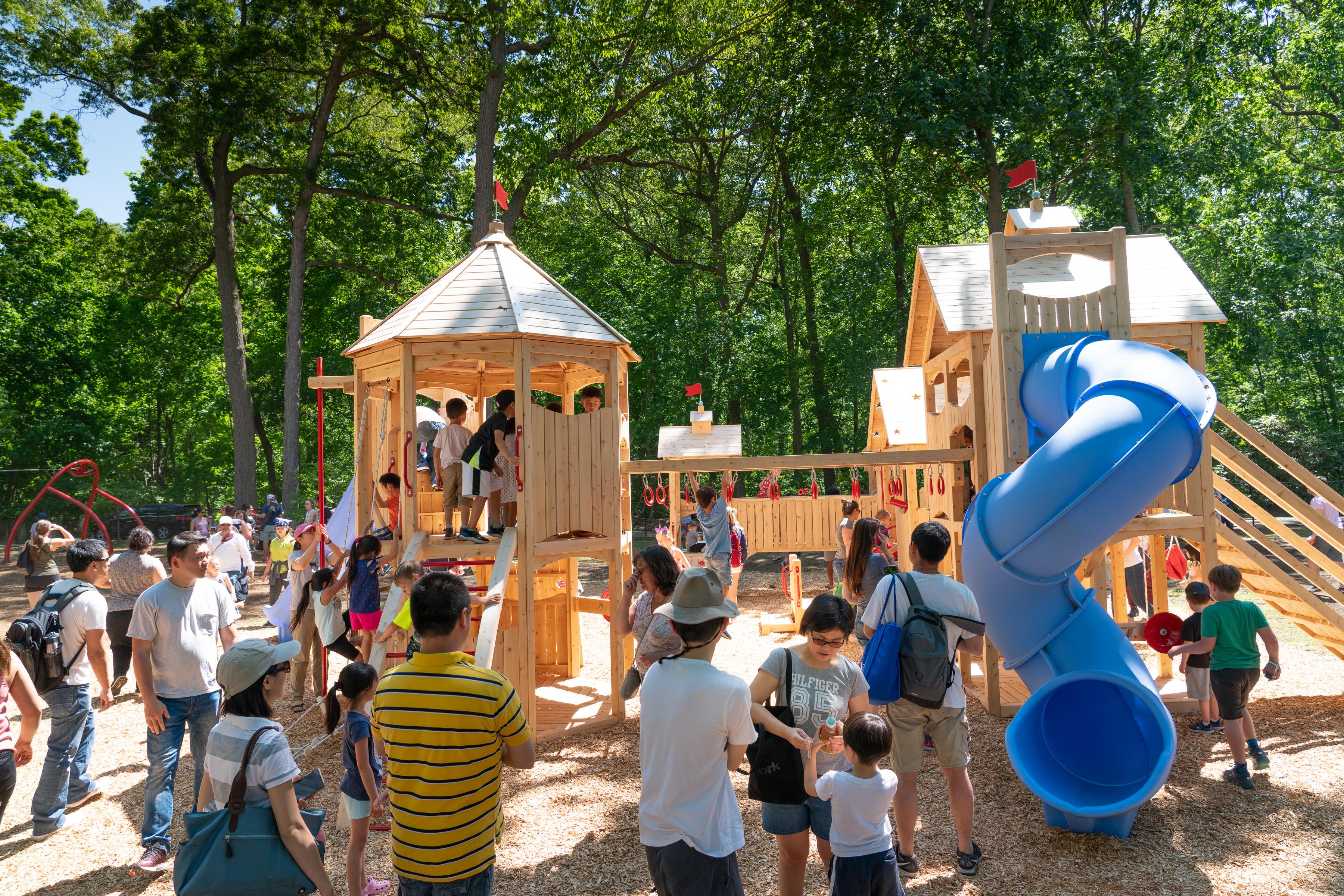 Woodland Playground Opening Day