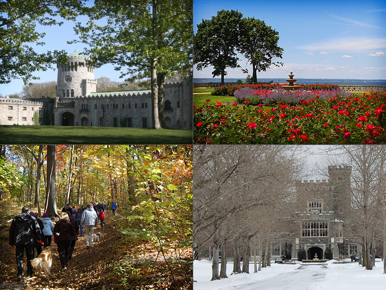 Montage of four seasons at the Preserve