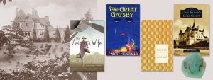 Book covers - Great Gatsby, Aviator's Wife, Long Island's Gold Coast, Tales of the Jazz Age and soap