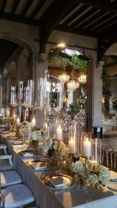 Dinner Table in Hempstead House's Winter Living Room