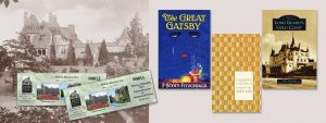 Falaise Tour Tickets and three books - The Great Gatsby, Jazz Age, Gold Coast History