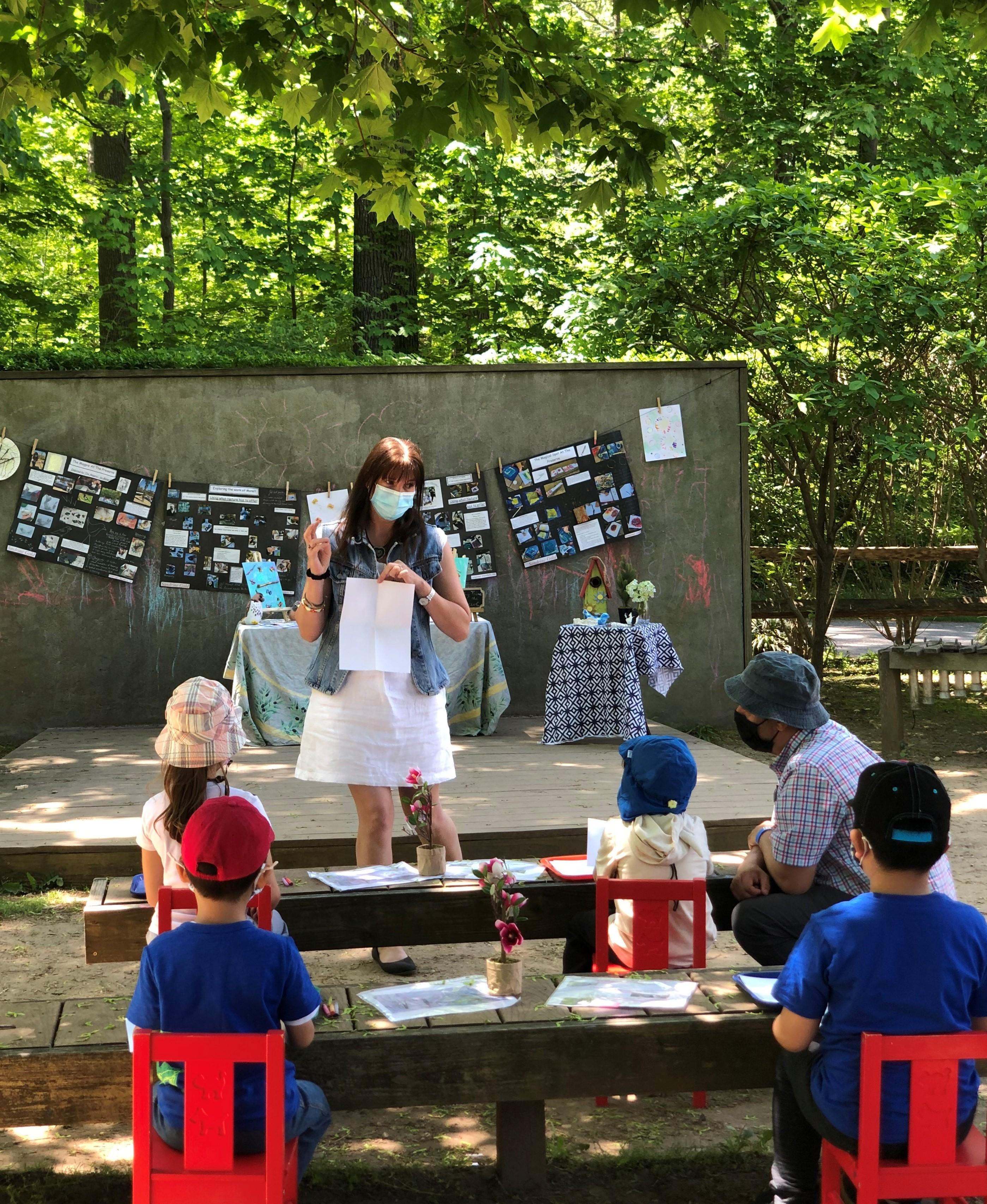 Art Class in Outdoor Classroom
